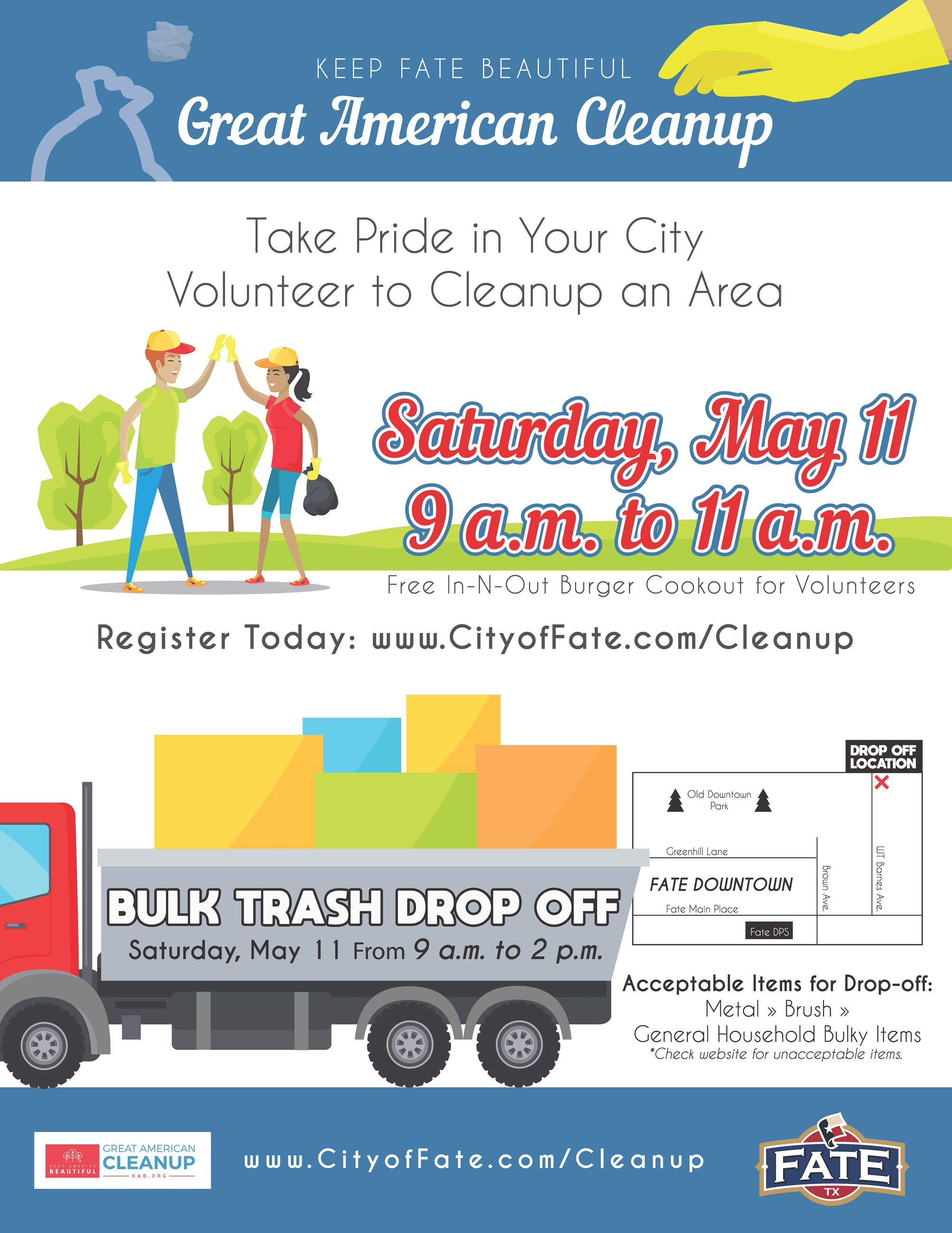 Great American Cleanup Flier