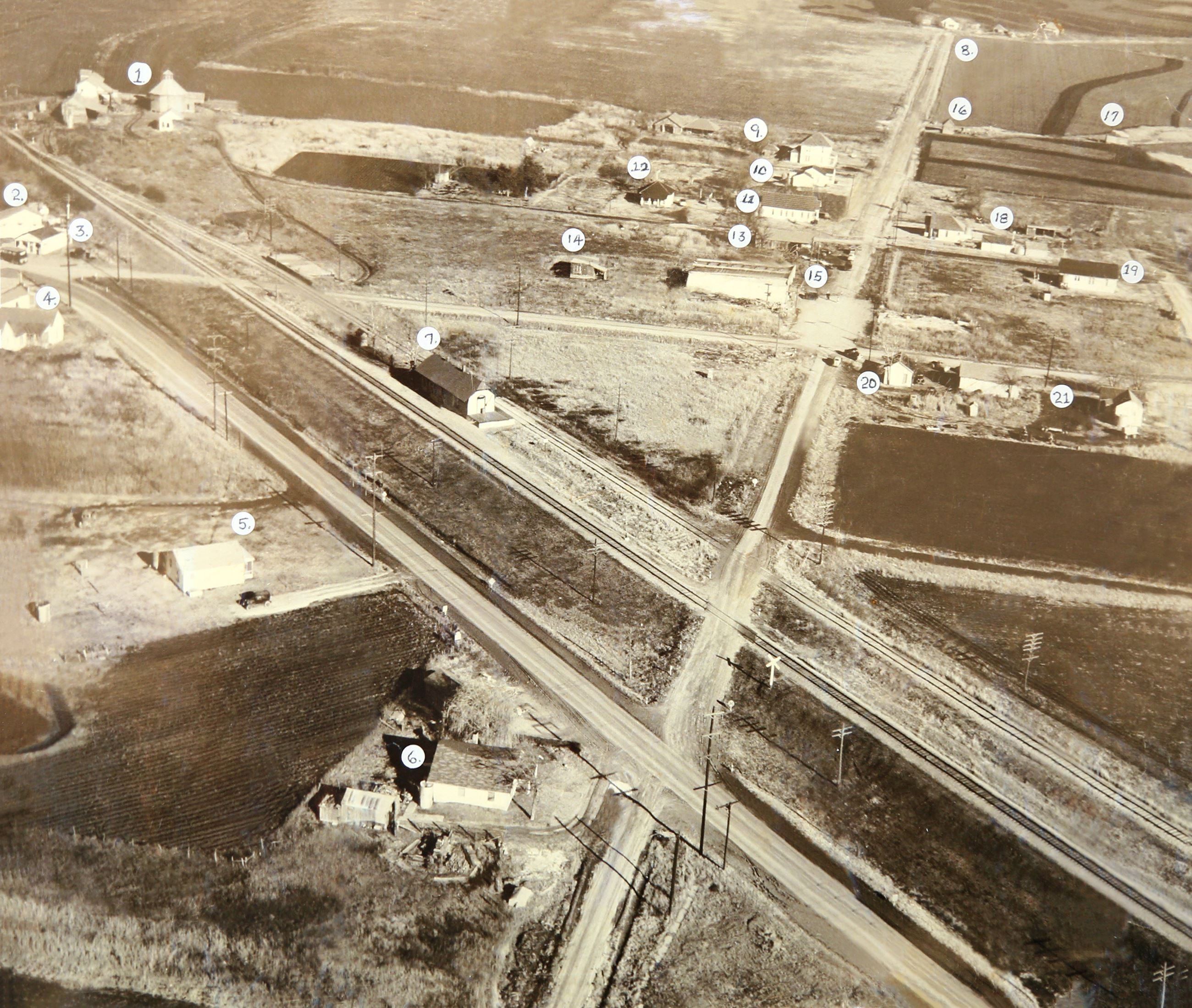 1950 Downtown Fate Aerial