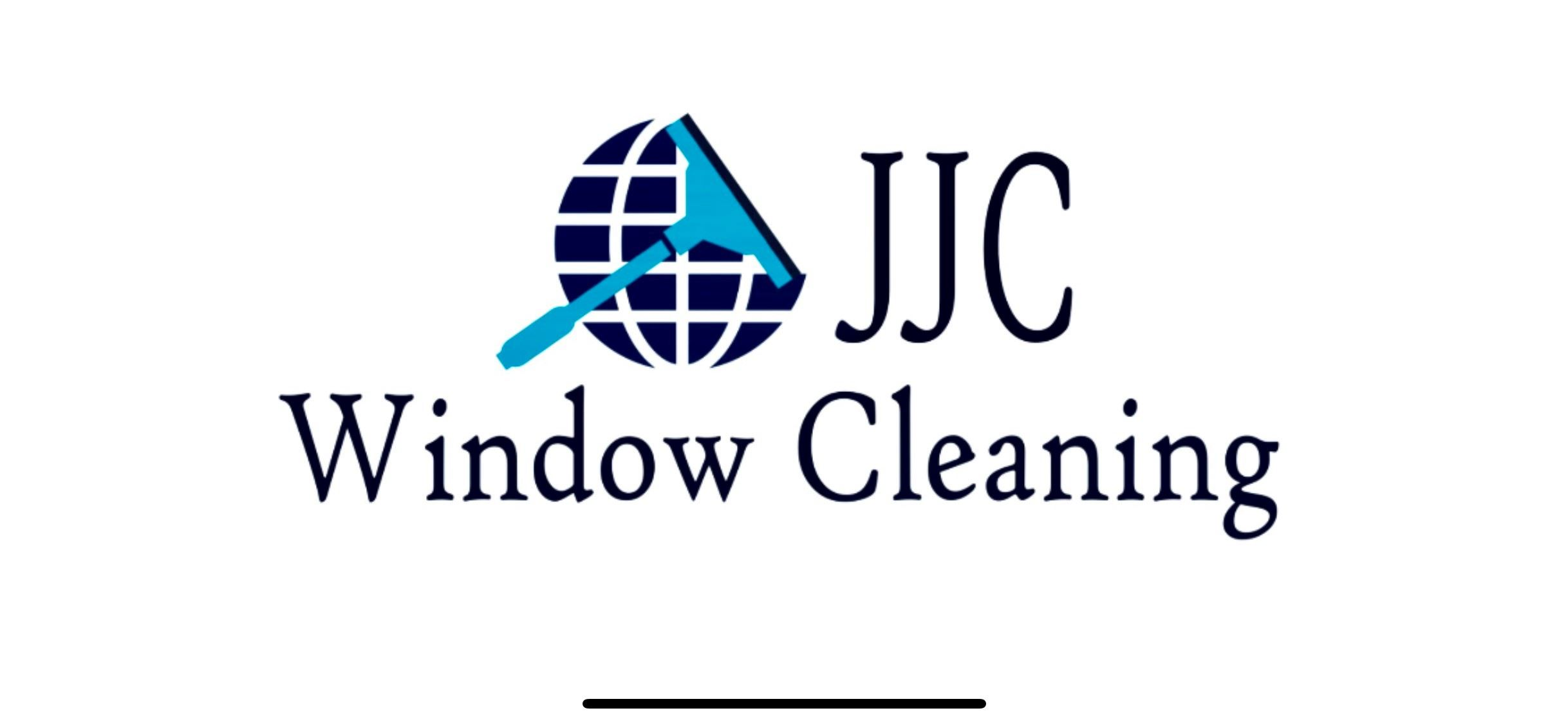 JJC Window Cleaning Logo - words, world and squeegee