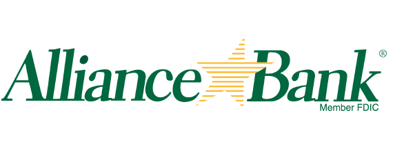 Alliance Bank logo - words with a yellow star