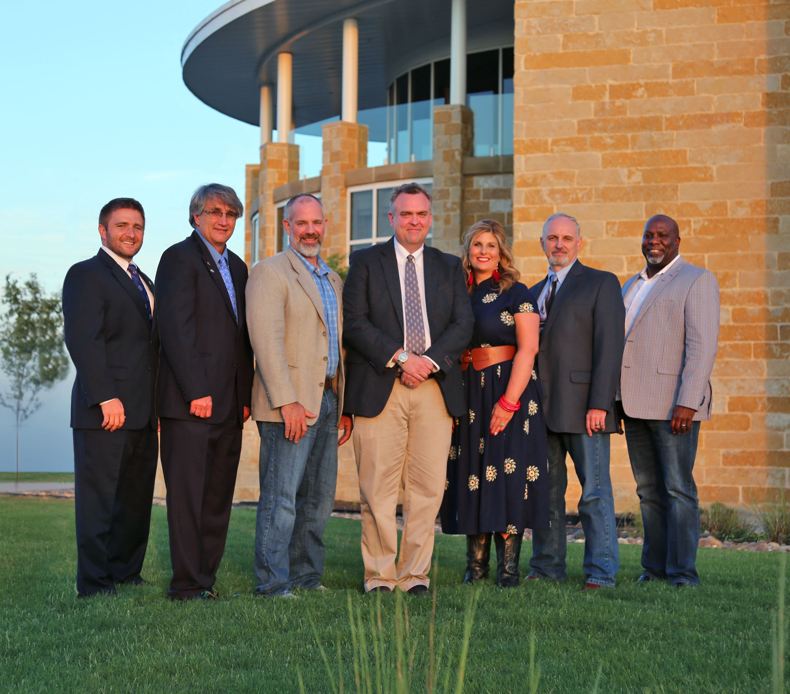 2019 Fate City Council group picture in front of City Hall