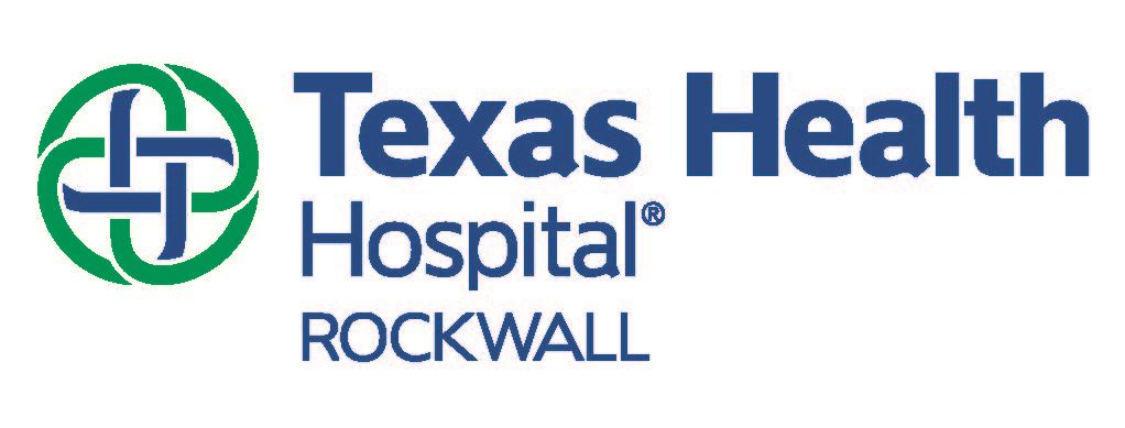Texas Health Hospital Rockwall logo - Blue letters with a green and blue circular shape