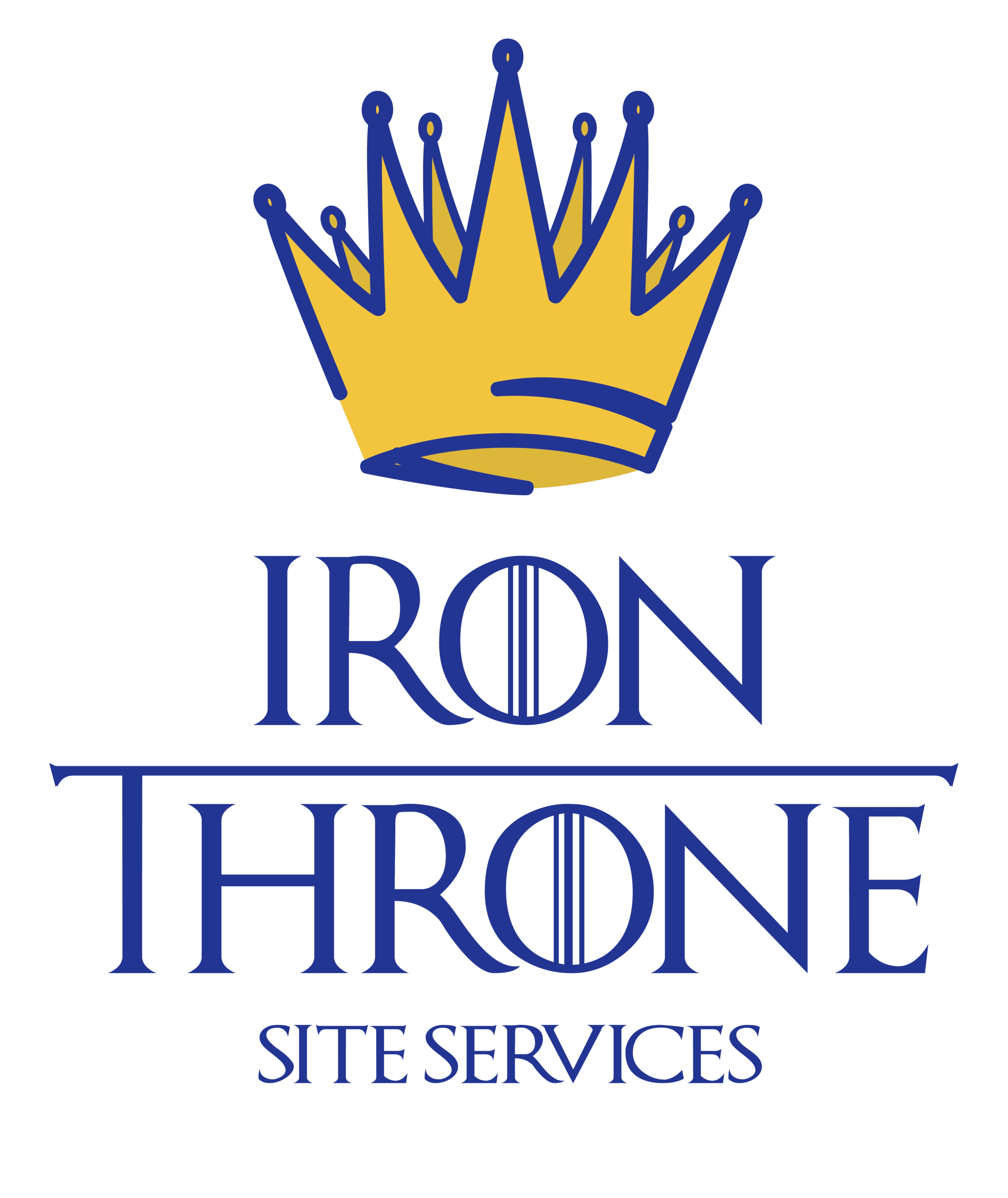 Iron Throne letters with a yellow crown