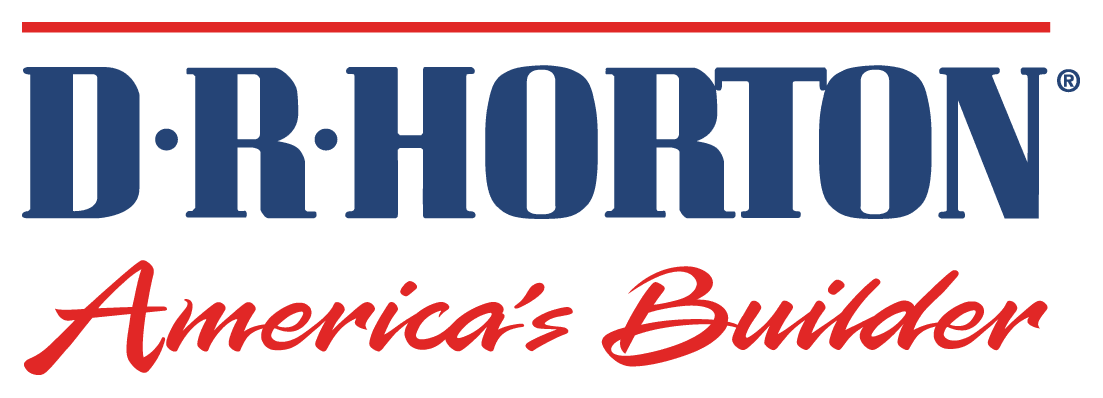 DR Horton Logo - Navy and Red Words