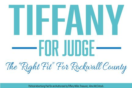 Tiffany Miller for Judge - words