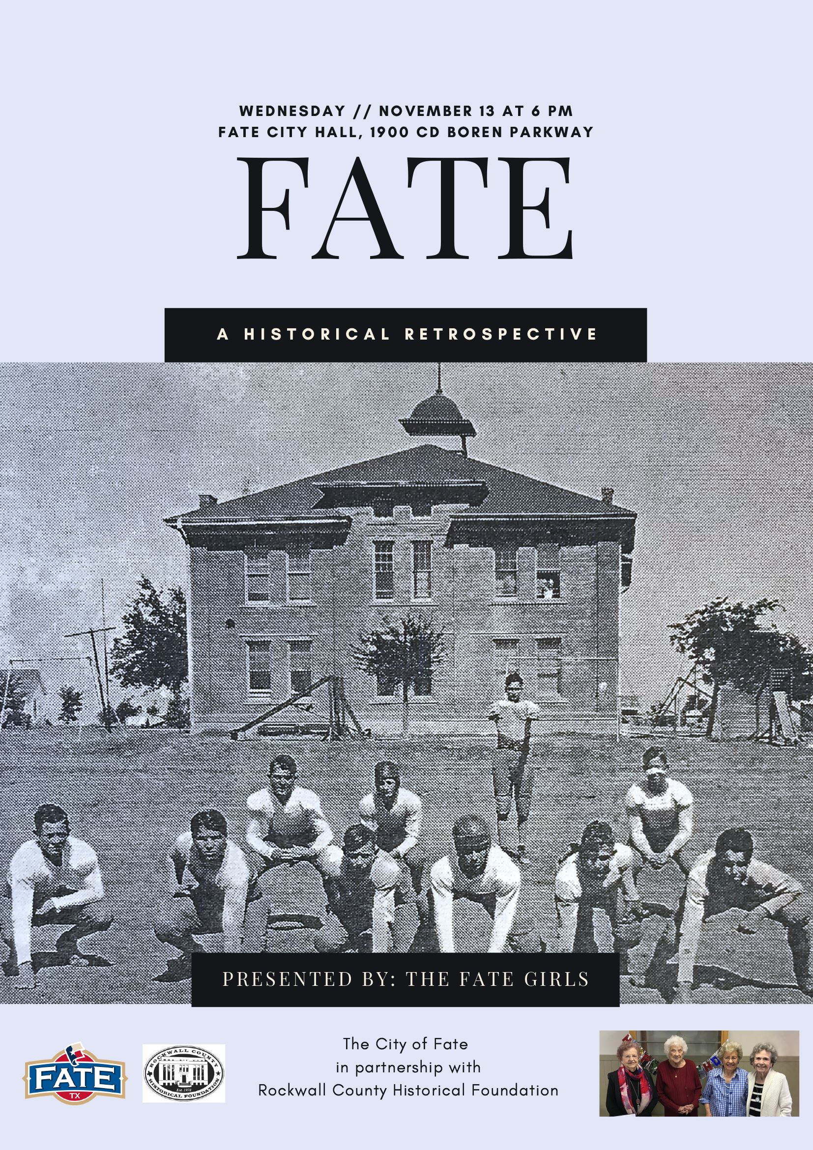 Fate History Night - picture of the Fate Girls and the Fate High School Football Team
