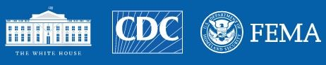 Combination White House - CDC - FEMA logo