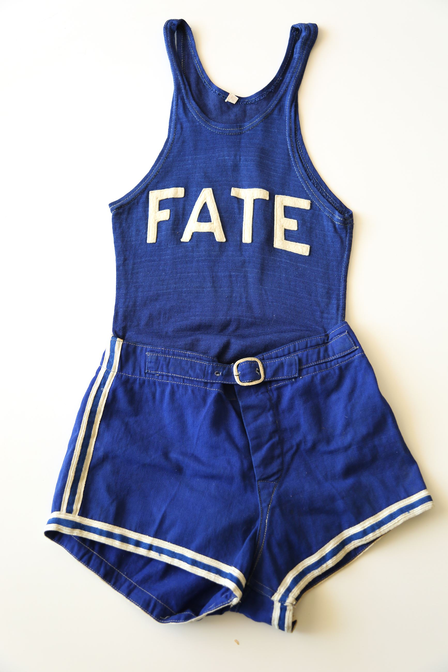 1935-36 Fate Cubs basketball uniform was worn by William E. -Billy- Crawford