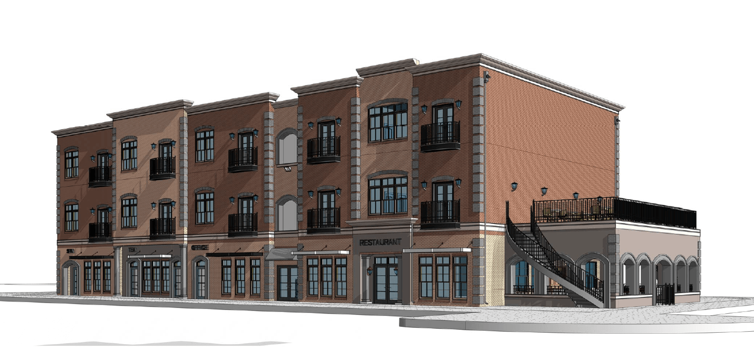 Downtown 3-Story Rendering(PNG)