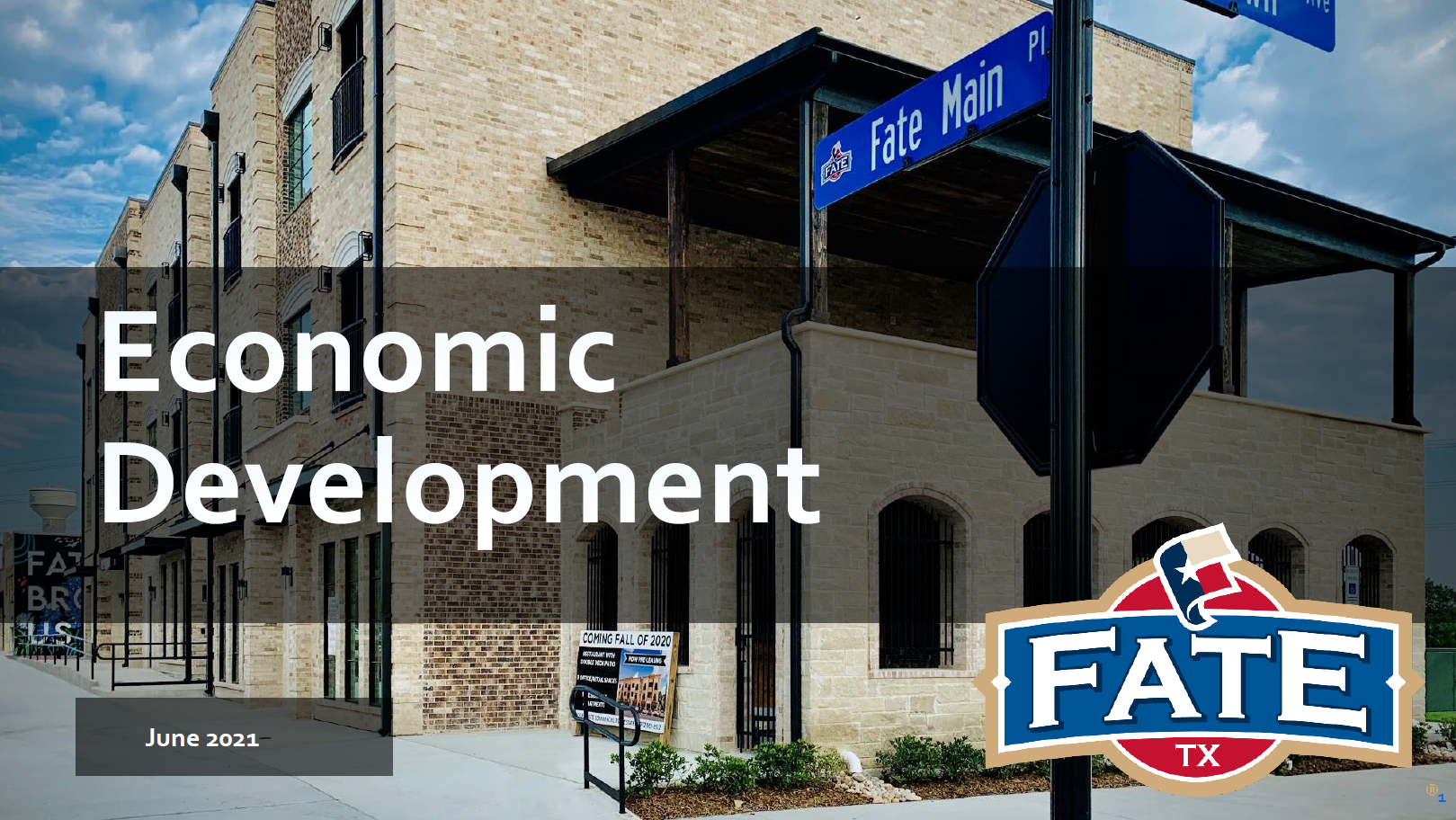 Economic Development Update March 2021 Title Slide